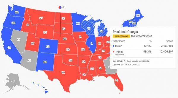 Προεδρικές εκλογές ΗΠΑ : Πάει για άνετη νίκη ο Μπάιντεν – «Πήρε» και τη Νεβάδα 5
