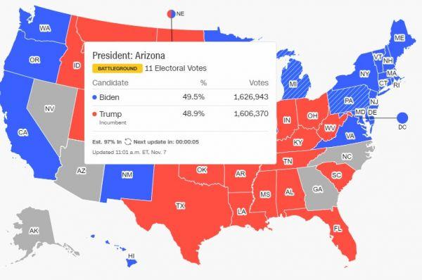Προεδρικές εκλογές ΗΠΑ : Πάει για άνετη νίκη ο Μπάιντεν – «Πήρε» και τη Νεβάδα 3