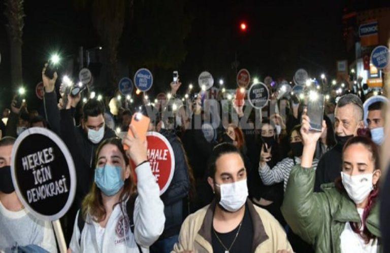 Κατεχόμενα : Διαδήλωση χιλιάδων Τουρκοκυπρίων κατά του Ερντογάν με συμμετοχή Ακιντζί (εικόνες) 1